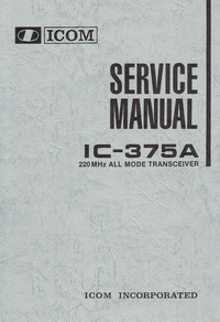 Manual de servicio Icom IC-375A