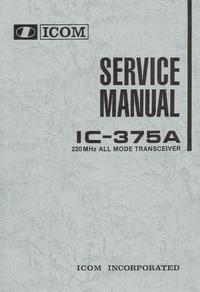 manuel de réparation Icom IC-375A
