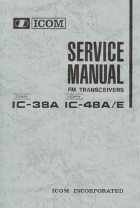 Service Manual Icom IC-38A