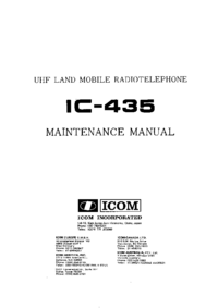 Manual de servicio Icom IC-435
