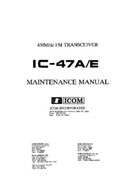Manual de servicio Icom IC-47E