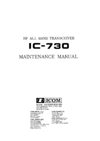Service Manual Icom IC-730