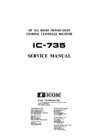 Manual de servicio Icom IC-735