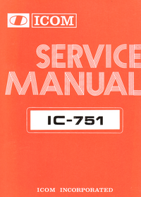 Service Manual Icom IC-751