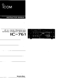User Manual Icom IC-761