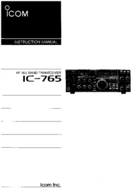 User Manual Icom IC-765