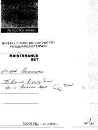 Manual del usuario Icom IC-V201