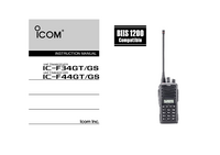 User Manual Icom IC-F34GS