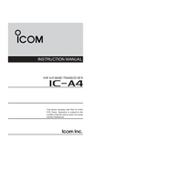 User Manual Icom IC-A4