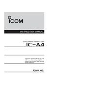 Instrukcja obsługi Icom IC-A4