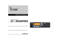 User Manual Icom IC-400Pro