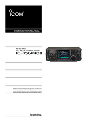 User Manual Icom IC-756Pro II