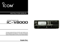 User Manual Icom IC-V8000