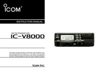 Instrukcja obsługi Icom IC-V8000