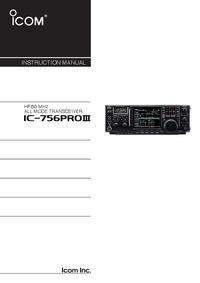 Manual do Usuário Icom IC-756Pro III