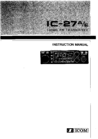 User Manual Icom IC-27A