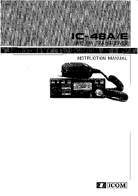 User Manual Icom IC-48E