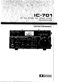 Serwis i User Manual Icom IC-701
