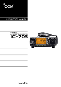 User Manual Icom IC-703