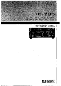 Service and User Manual Icom IC-735