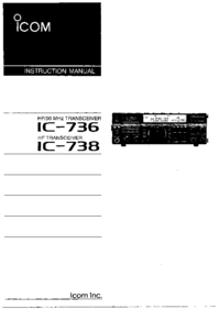 Manual del usuario Icom IC—738