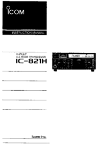 User Manual Icom IC-821H
