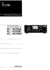 User Manual Icom IC-970A
