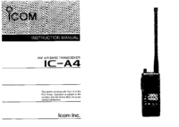 User Manual Icom IC—A4