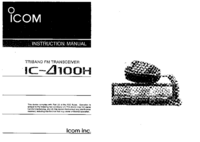 User Manual Icom IC-100H