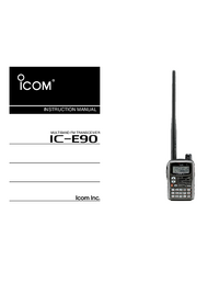 User Manual Icom IC-E90