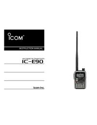 Manuel de l'utilisateur Icom IC-E90