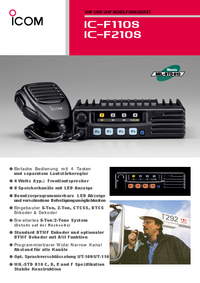 Datenblatt Icom IC-F210S
