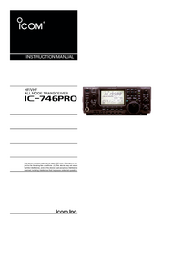 Manual del usuario Icom IC-746Pro