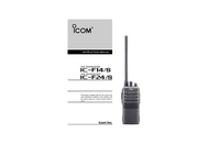 User Manual Icom IC-F24/S