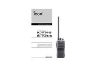 Bedienungsanleitung Icom IC-F14/S