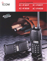 Datenblatt Icom IC-F4GT