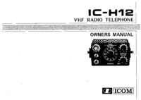 User Manual Icom IC-H12