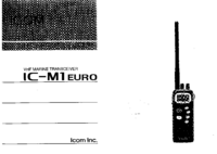 User Manual Icom IC-M1 EURO