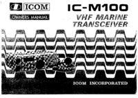 User Manual Icom IC-M100