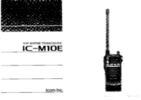 User Manual Icom IC-M1OE
