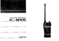 Руководство пользователя Icom IC-M1OE