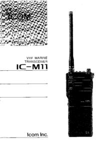 Bedienungsanleitung Icom IC-M11