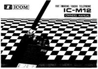 Manuel de l'utilisateur Icom IC-M12