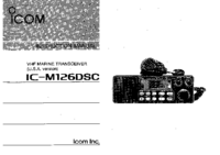 User Manual Icom IC-M126DSC