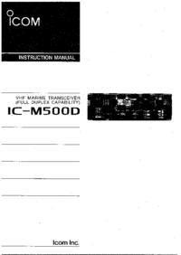 Instrukcja obsługi Icom IC-M500D