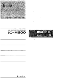 User Manual Icom IC-M600