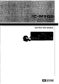 Servicio y Manual del usuario Icom IC-M700