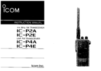 User Manual Icom IC-P2A