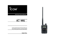 Bedienungsanleitung Icom IC-R5