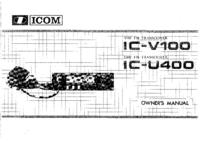 Gebruikershandleiding Icom IC-V100